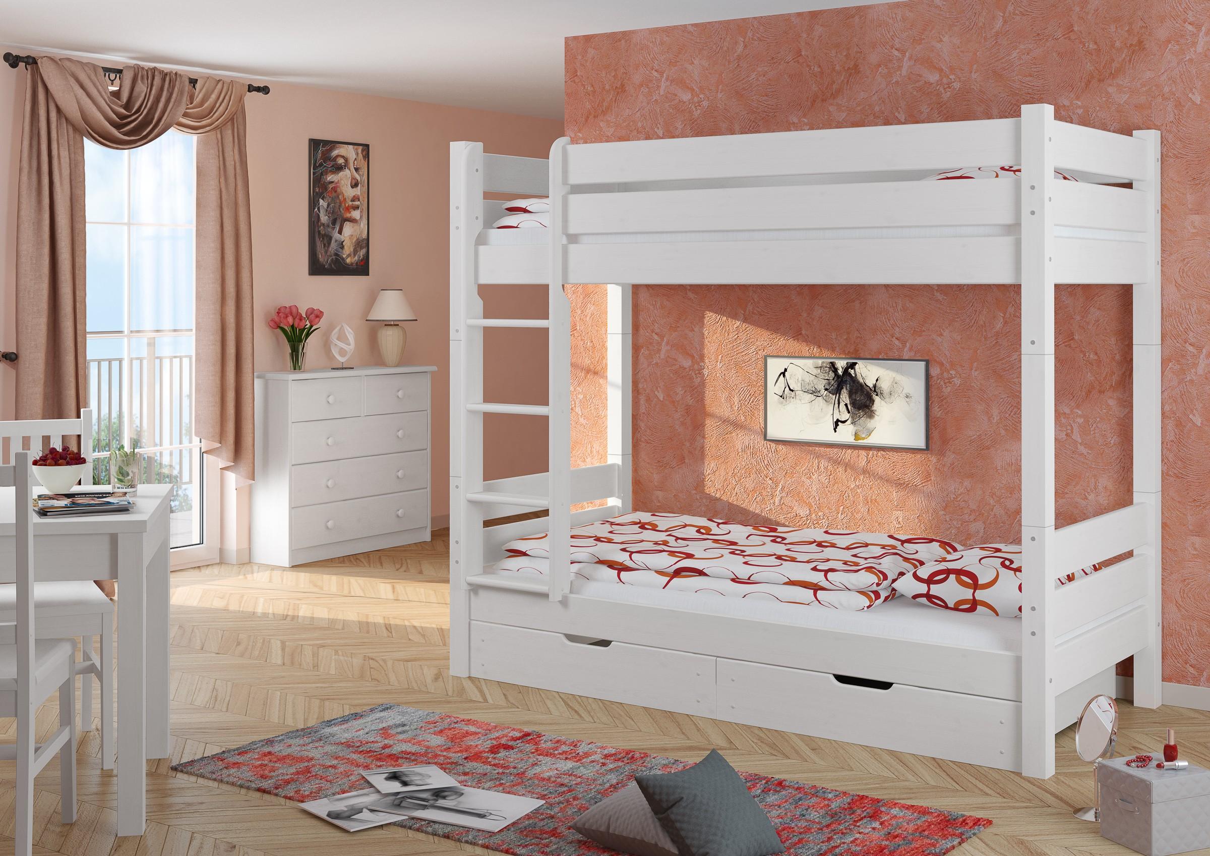 Etagenbett Erwachsene Schweiz : Erwachsenen etagenbett teilbar rollrost bettkästen