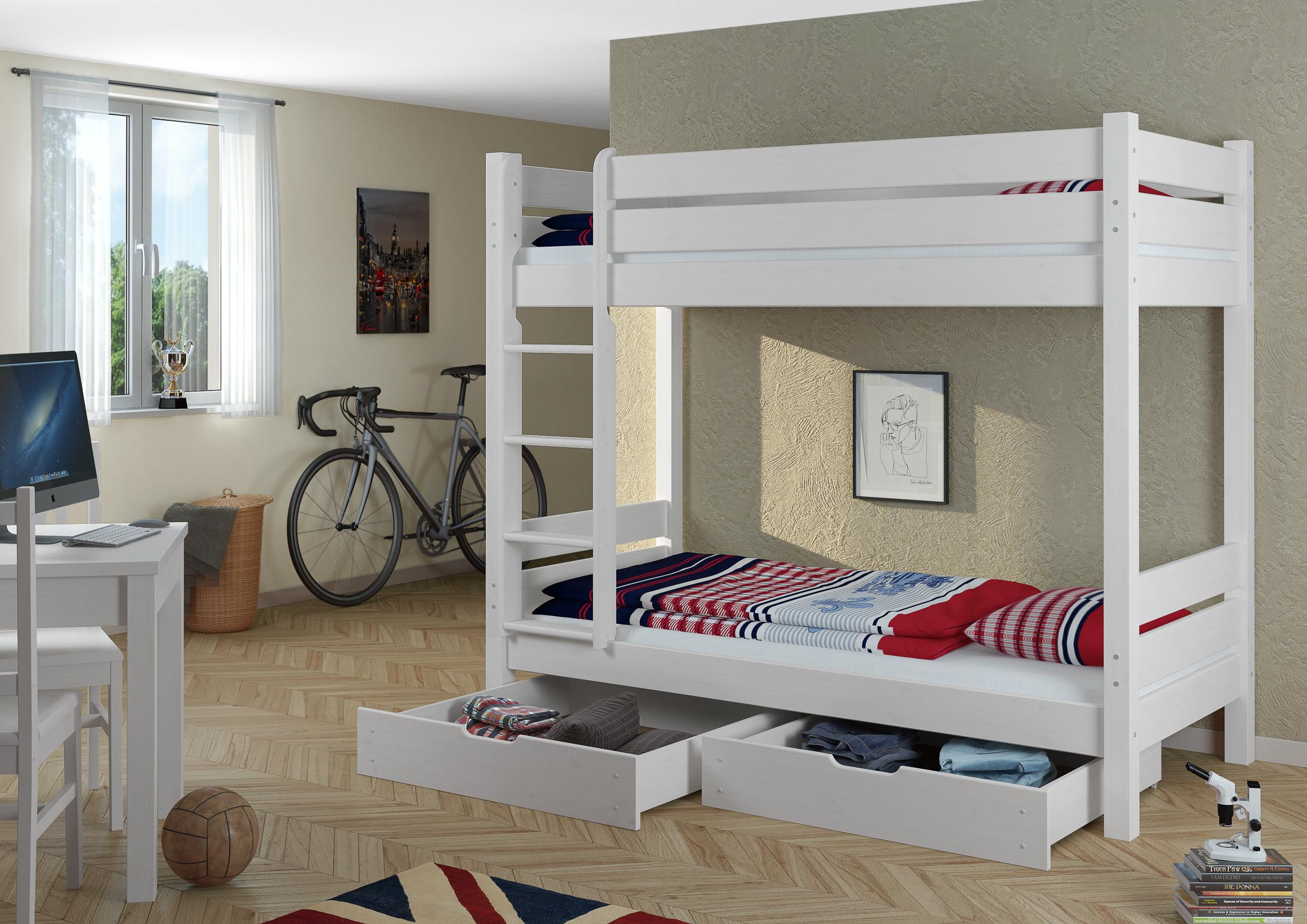 Holz Etagenbett Für Erwachsene : Erwachsenen etagenbett 90x200 teilbar rollrost bettkästen 60.16 09 w