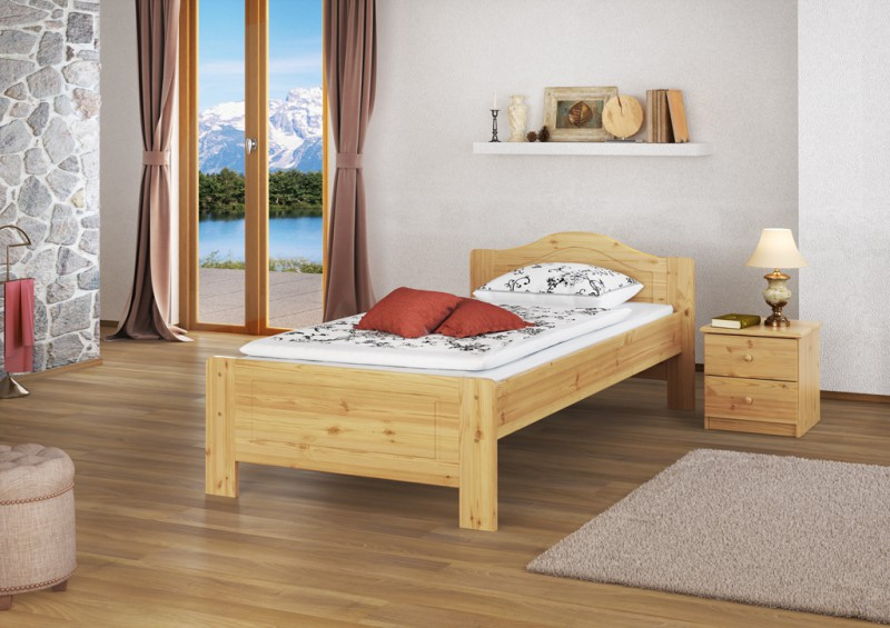 einzelbett seniorenbett jugendbett kiefer 90x200 ohne lattenrost or 4250639511255 ebay. Black Bedroom Furniture Sets. Home Design Ideas