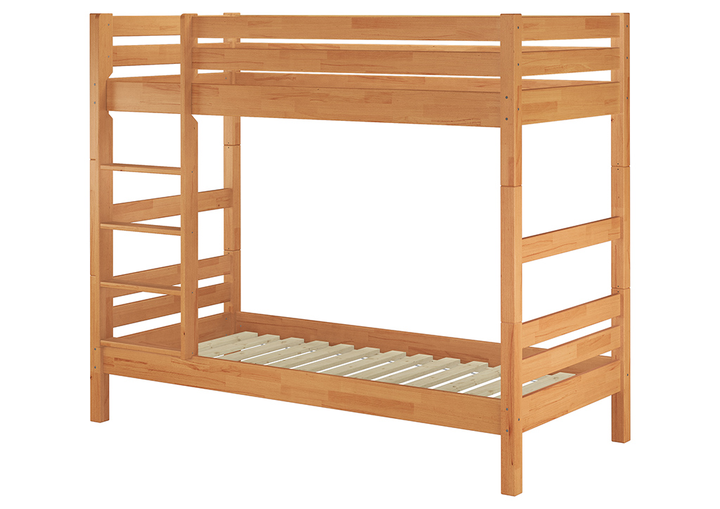 Beautiful Bunk Bed Of Beech For Mattres 90x200 Also For Adults With Slats 60 17 09 Ceres Webshop