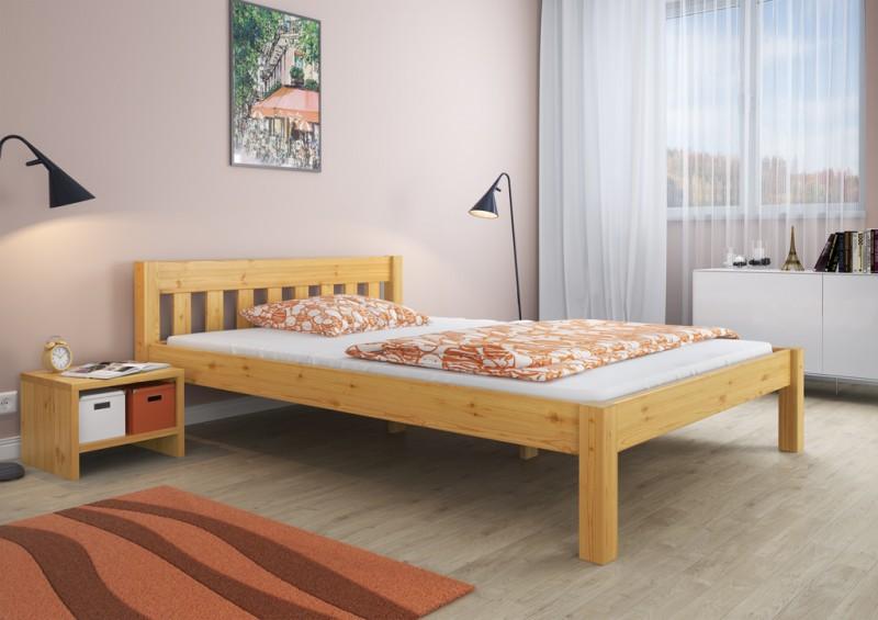 Solido letto futon 120x200 in faggio massello Eco laccato con assi di legno 60.84-12