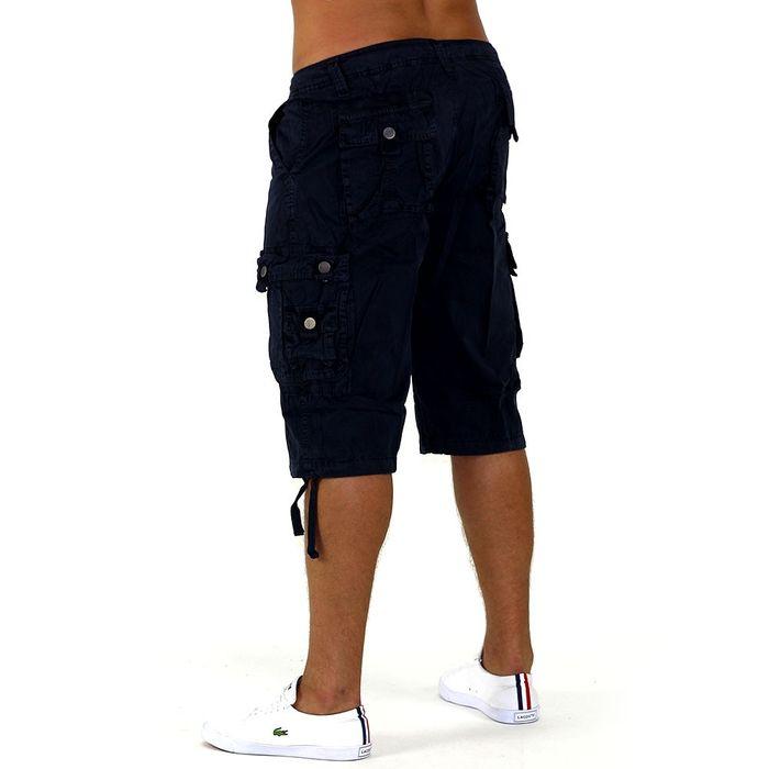 Herren Shorts Cargo Bermuda Shorts Frutti di Mare Grün ID1006 – Bild 6