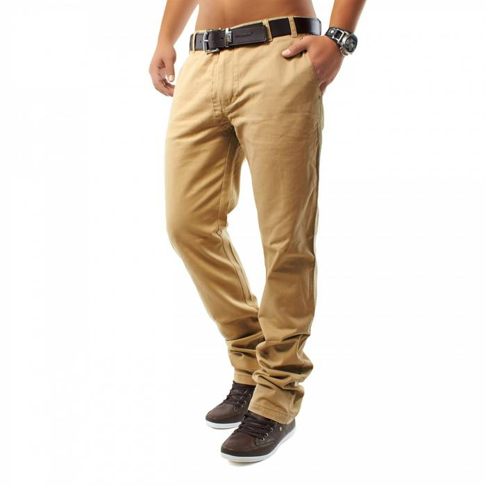 Herren Chino Hose Honey DSN ID1159 Straight Fit   – Bild 9