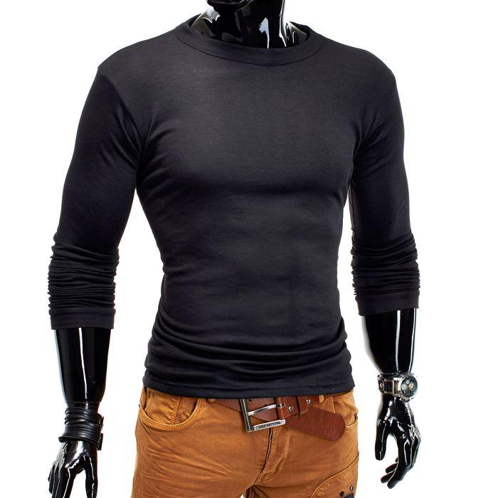 Herren Basic Longsleeve Pullover Sweater H1165   – Bild 2