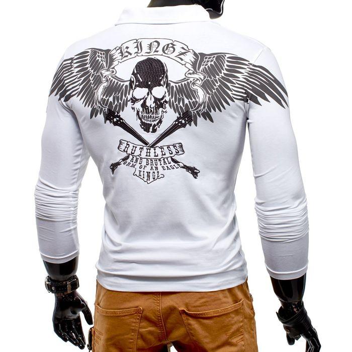 Adler Longsleeve Skull Wings ID1167 (2 Farben) – Bild 6