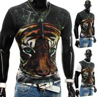 Herren T-Shirt Tiger Animal Planet ID1212 (2 Farben)