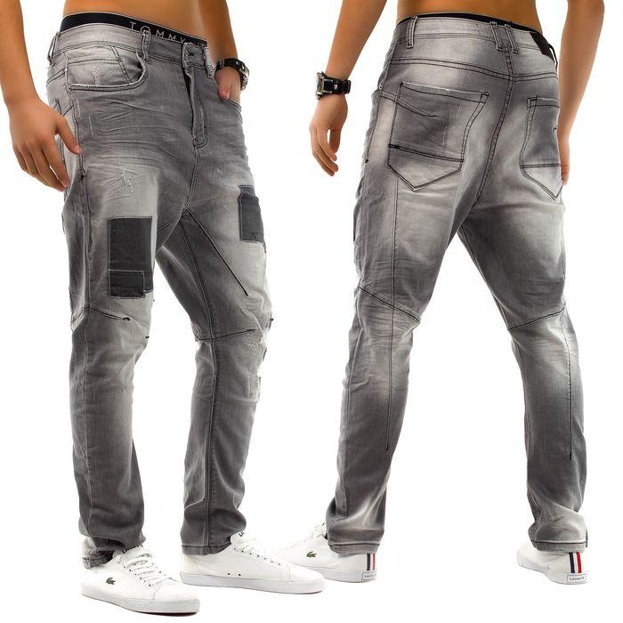 Herren Jeans Patched Wave Walker ID1222 (Gerades Bein)