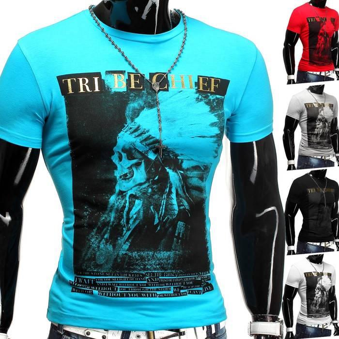 Herren T-Shirt Tribe Chief ID1238