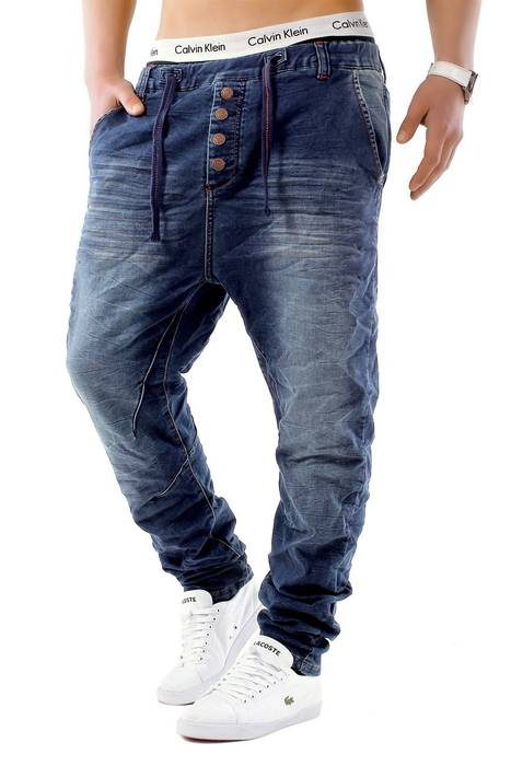 Urban Surface Herren Jogg Jeans Haremshose Denim Baggy Pants H1242 – Bild 25