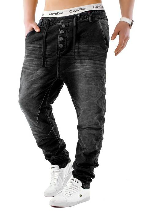 Urban Surface Herren Jogg Jeans Haremshose Denim Baggy Pants H1242 – Bild 6