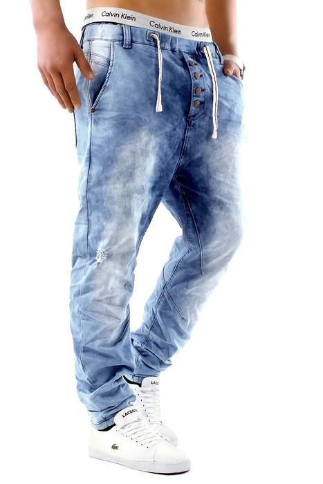 Urban Surface Herren Jogg Jeans Haremshose Denim Baggy Pants H1242 – Bild 5
