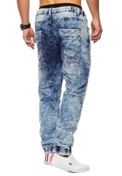 Urban Surface Herren Jogg Jeans Haremshose Denim Baggy Pants H1242 – Bild 19