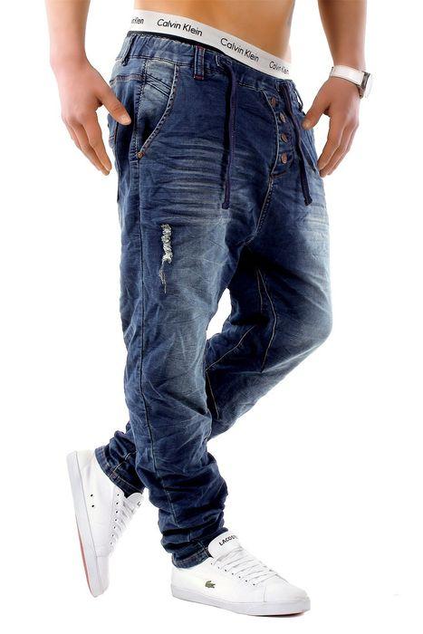 Urban Surface Herren Jogg Jeans Haremshose Denim Baggy Pants H1242 – Bild 8
