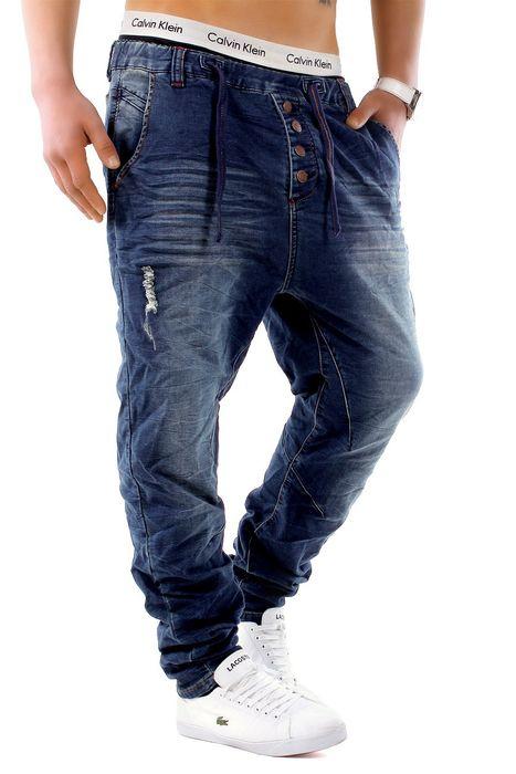 Urban Surface Herren Jogg Jeans Haremshose Denim Baggy Pants H1242 – Bild 10