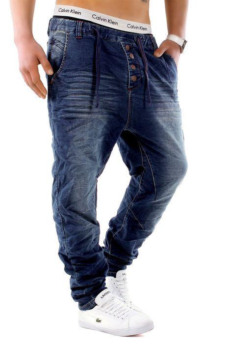 Urban Surface Herren Jogg Jeans Haremshose Denim Baggy Pants H1242 – Bild 22