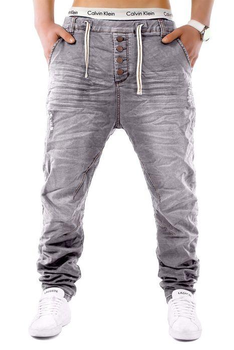 Urban Surface Herren Jogg Jeans Haremshose Denim Baggy Pants H1242 – Bild 13
