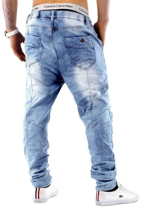 Urban Surface Herren Jogg Jeans Haremshose Denim Baggy Pants H1242 – Bild 4