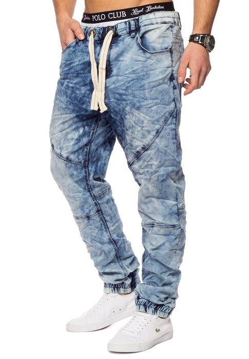 Urban Surface Herren Jogg Jeans Haremshose Denim Baggy Pants H1242 – Bild 17