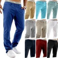 Herren Chino Hose Stretch Jeans Straight H1245