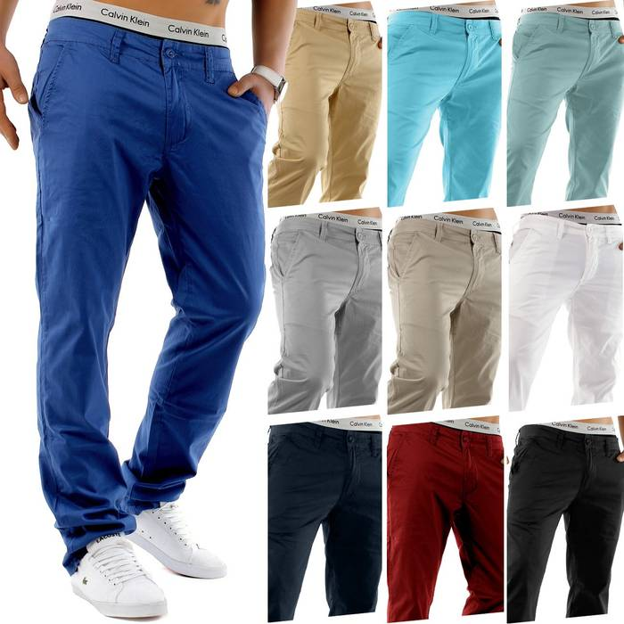 Herren Chino Hose Stretch Jeans Straight H1245 – Bild 1