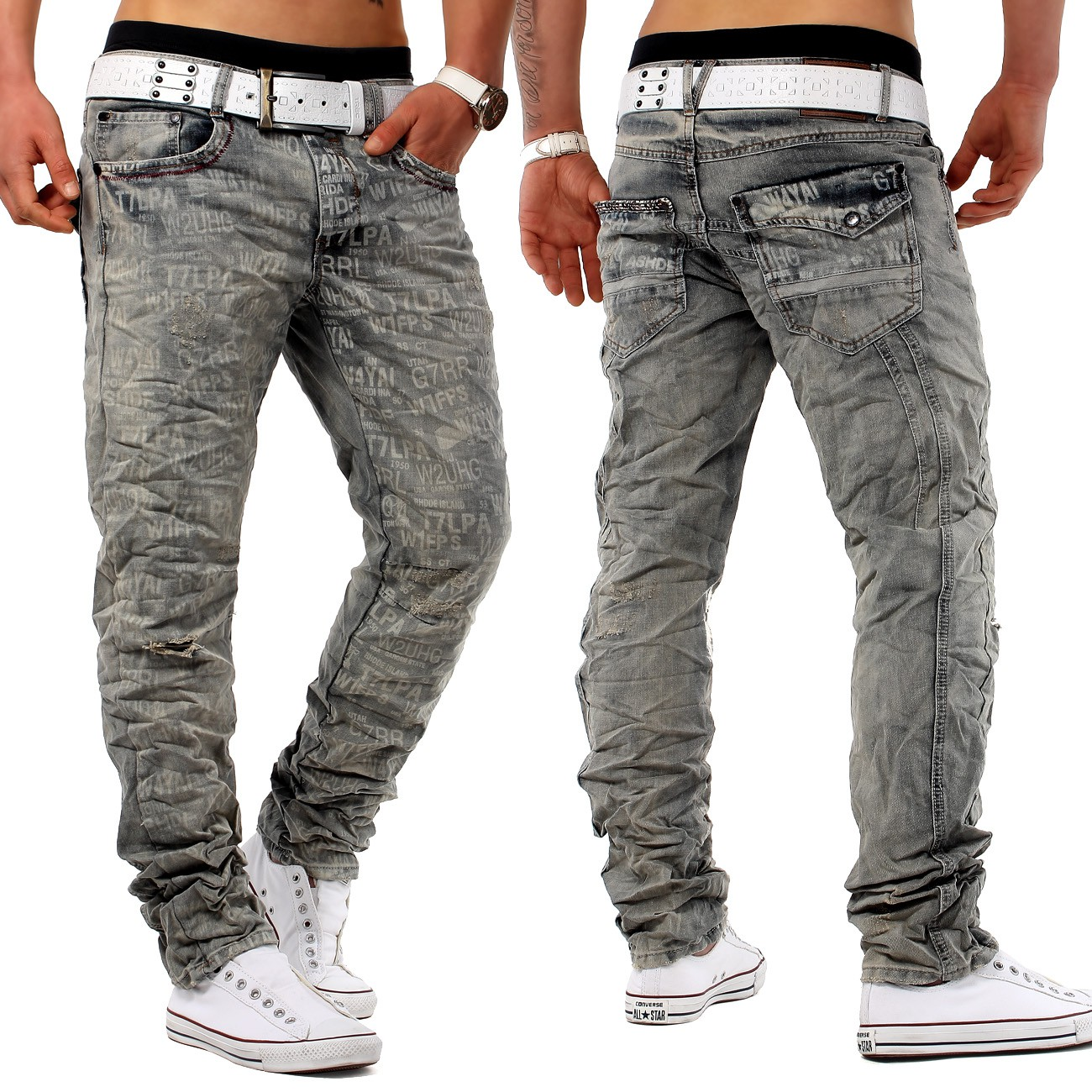 herren marken jeans hose top design clubwear slim fit chick sayyeah knitter plus ebay. Black Bedroom Furniture Sets. Home Design Ideas