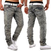 Jeansnet Herren Jeans Hose Slim Fit Used Knitter H1280