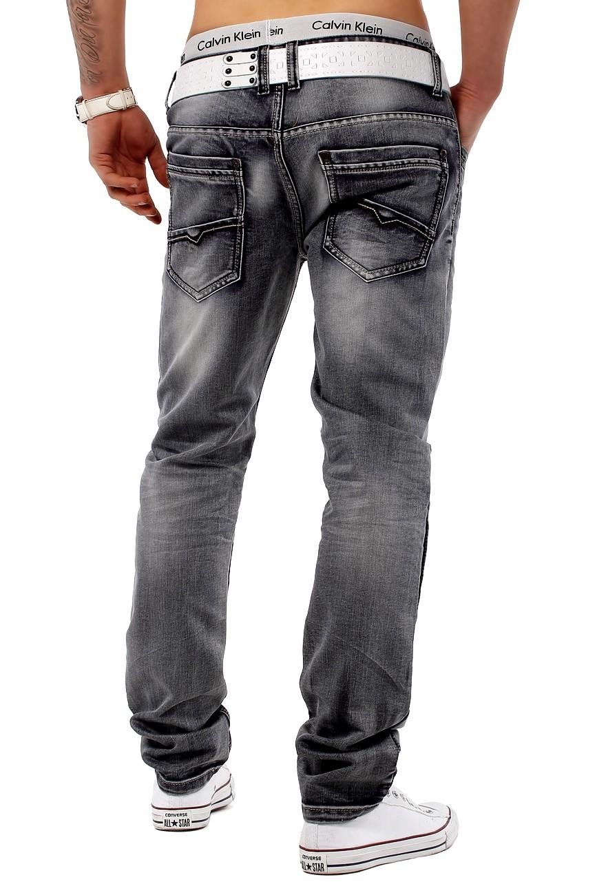 herren jeans hose edel dezent clubwear slim fit chick schmal mr grey ebay. Black Bedroom Furniture Sets. Home Design Ideas