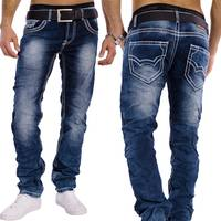Herren Vintage Jeans Denim Revolution ID1301 Stretch Slim Fit (Gerades Bein)