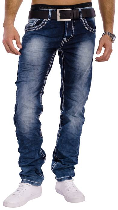 Herren Vintage Jeans Denim Revolution ID1301 Stretch Slim Fit (Gerades Bein) – Bild 4