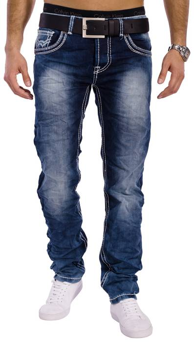 Herren Vintage Jeans Denim Revolution ID1301 Stretch Slim Fit (Gerades Bein) – Bild 3