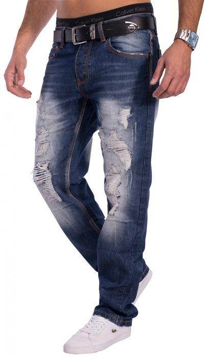 Herren Destroyed Jeans Danbury ID1327 Regular Fit – Bild 3