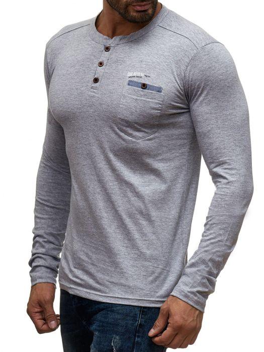 98-86 Herren Longsleeve Pullover Hemd Basic Sweat Shirt H1354 – Bild 9
