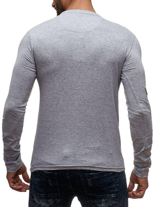 98-86 Herren Longsleeve Pullover Hemd Basic Sweat Shirt H1354 – Bild 10