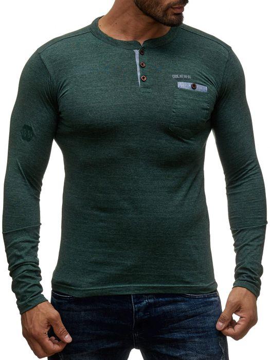 98-86 Herren Longsleeve Pullover Hemd Basic Sweat Shirt H1354 – Bild 5