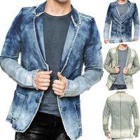 Herren Denim Jacke Vintage Jeansjacke Sakko Pitt ID1367 001