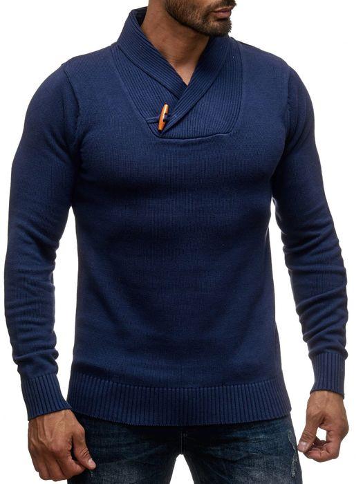 Sky Rebel Herren Strickpullover Longsleeve Shirt H1382 – Bild 2