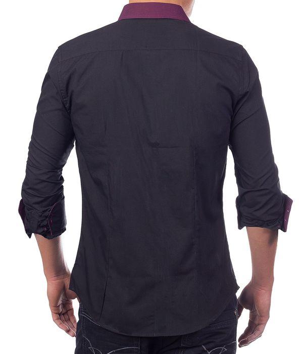 Herren Hemd Poloshirt Langarm Slim Fit Freizeithemd H1387 – Bild 19