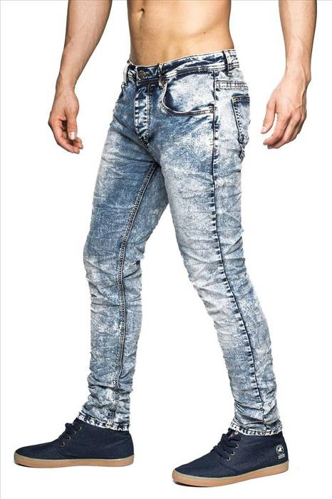 Herren Jeans bleached Madrid ID1411 Slim Fit stretch