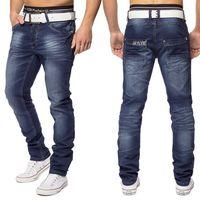 Herren 5-Pocket Jeans Lens ID1416 Slim Fit dunkelblau