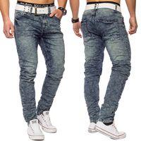 Herren Sweat Jeans Acid Wash Conques ID1420 Regular Fit 001