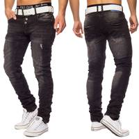 Herren Jeans Eight ID1423 Slim Fit destroyed Grau