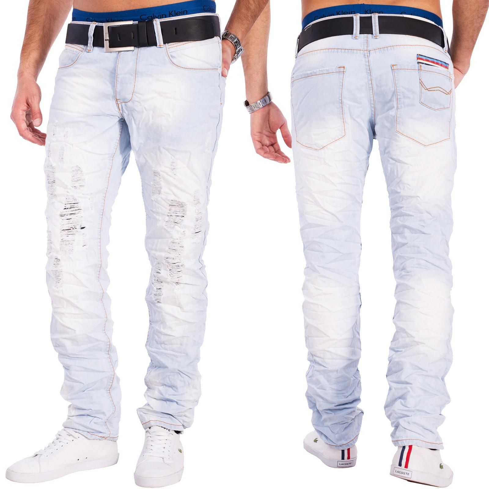 herren destroyed denim jeans hellblau totenkopf zerrissen. Black Bedroom Furniture Sets. Home Design Ideas