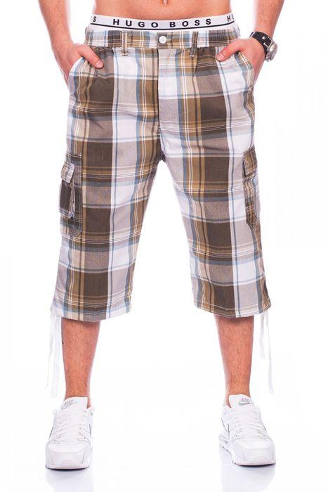 Herren Cargo-Shorts | Casual Fit · Knielange karierte Bermuda · Sommer Cargo Basic Short · Freizeit Capri · Kurze Hose · Walkshort mit Dehnbund · Karo-Muster | H1437 von Max Men – Bild 5