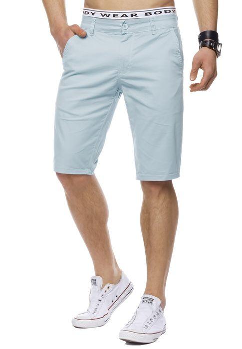 Herren Bermuda Shorts Kurze Chino Hose Basic Capri Walkshort H1442 – Bild 5