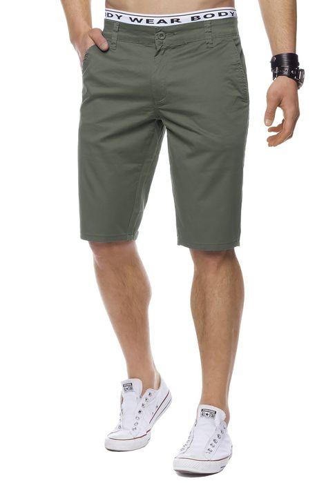 Herren Bermuda Shorts Kurze Chino Hose Basic Capri Walkshort H1442 – Bild 16