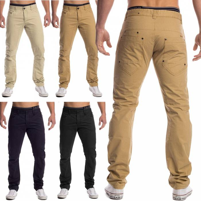 Herren Chino Stoffhose Denton ID1451 Five Pocket Slim – Bild 1