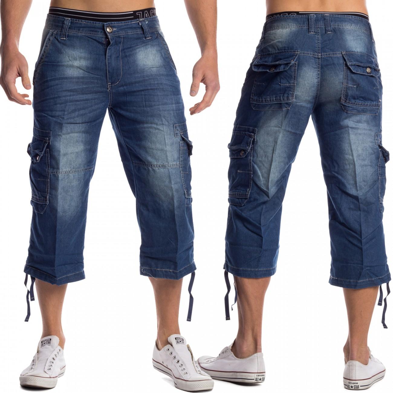 herren jeans shorts kurz 3 4 hose bermuda denim stone washed hellblau jeansshort ebay. Black Bedroom Furniture Sets. Home Design Ideas