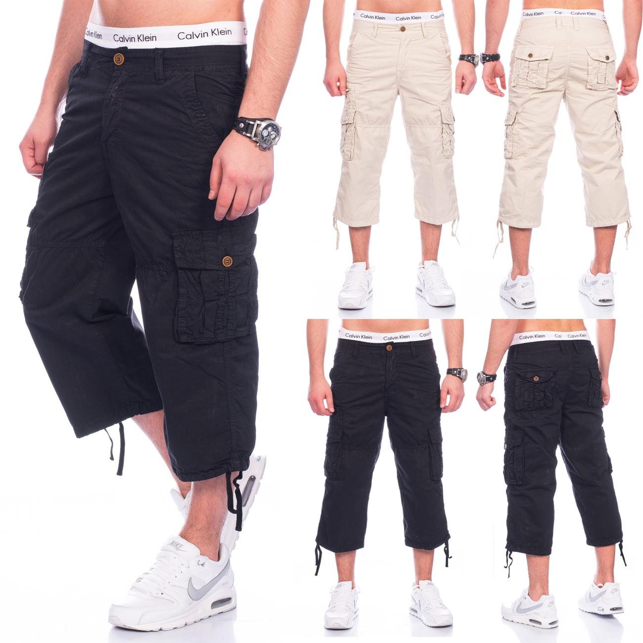 Herren Bermudas Cargo Shorts kurze Hose 100% Baumwolle Sommer Jeans  Caprihose - Nr 1459 62030f697e