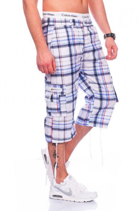 Herren Cargo-Shorts | Straight Fit · Wadenlange Sommer Bermuda · Karo-Design · 3/4 Cargoshorts · Freizeit Capri · Kurze Hose · Walkshort mit Dehnbund · kariertes Muster | H1464 von Max Men – Bild 5