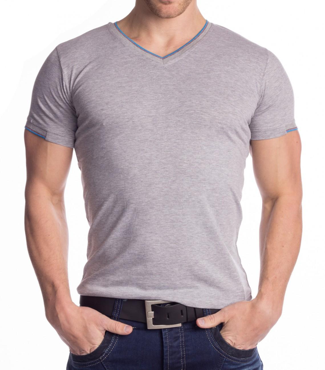 d49cd9e5cb086 Hombre Camiseta cuello de pico camisas camisetas elasticas jersey ...